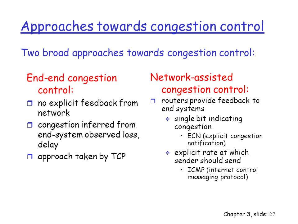 Approaches towards congestion control