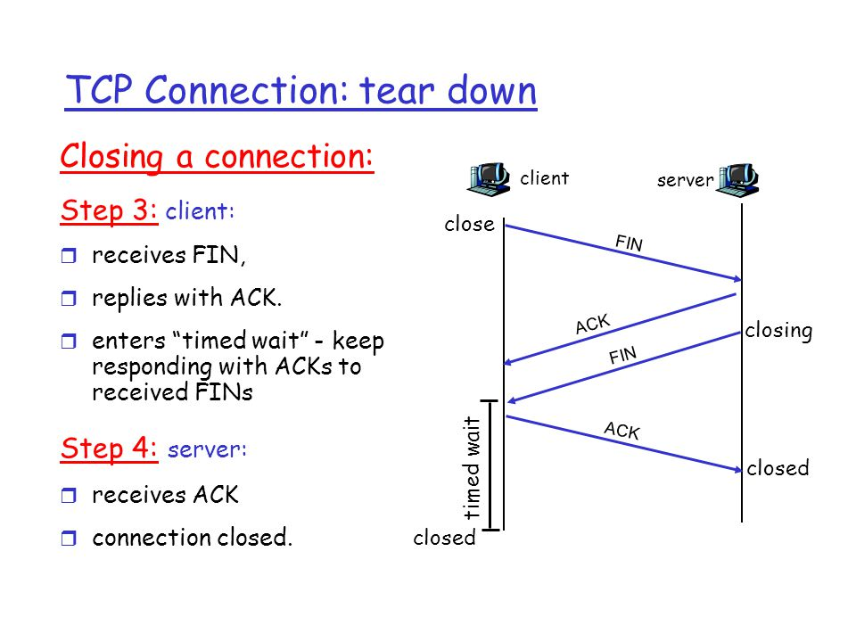 TCP Connection: tear down