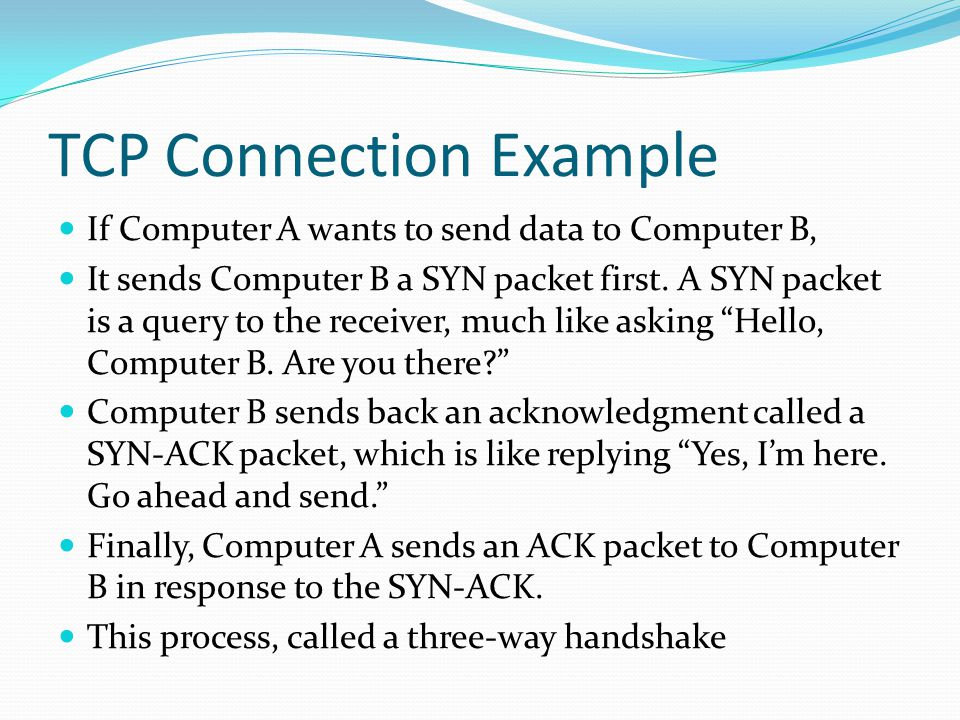 TCP Connection Example