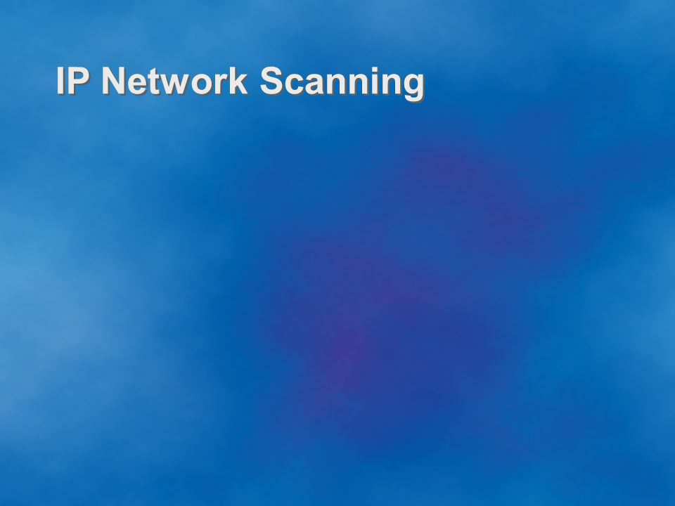 IP Network Scanning