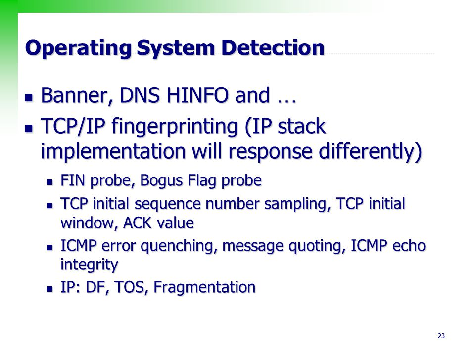 Operating System Detection