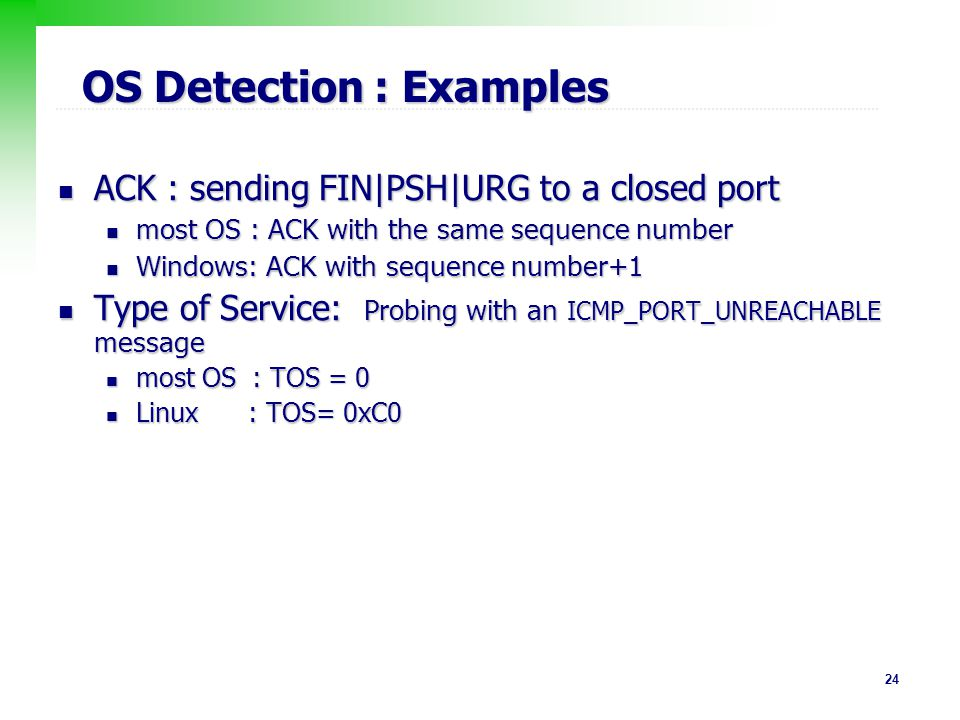 OS Detection : Examples