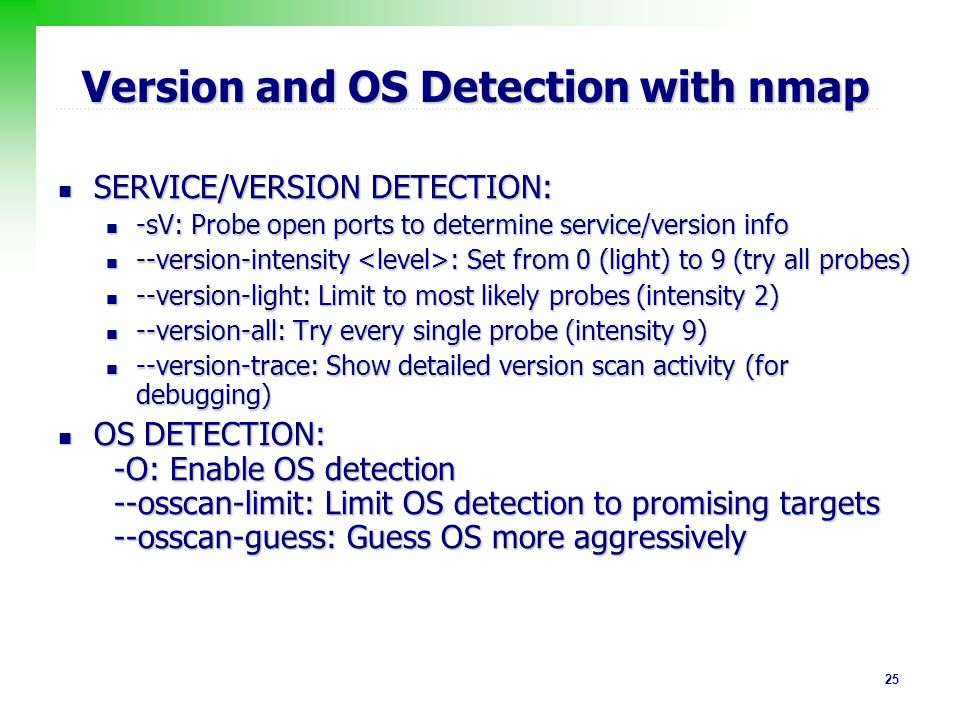 Version and OS Detection with nmap
