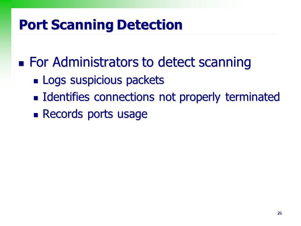 Port Scanning Detection