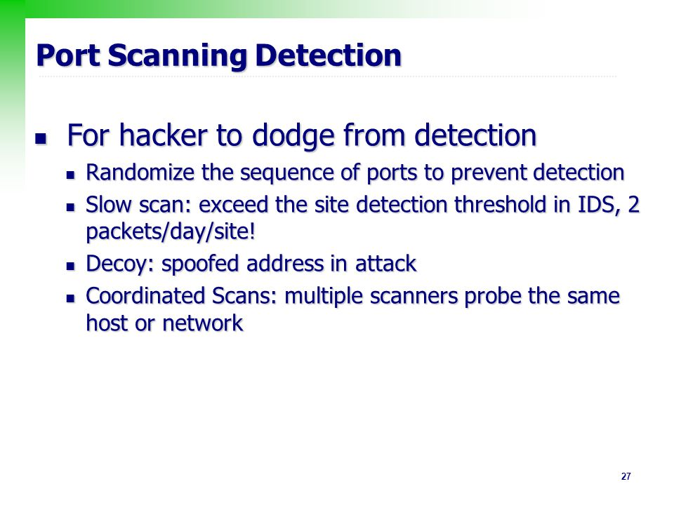 Port Scanning Detection