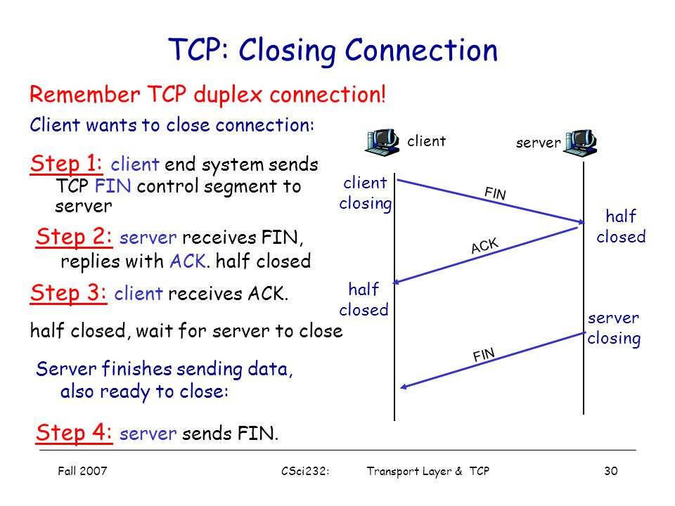 TCP: Closing Connection