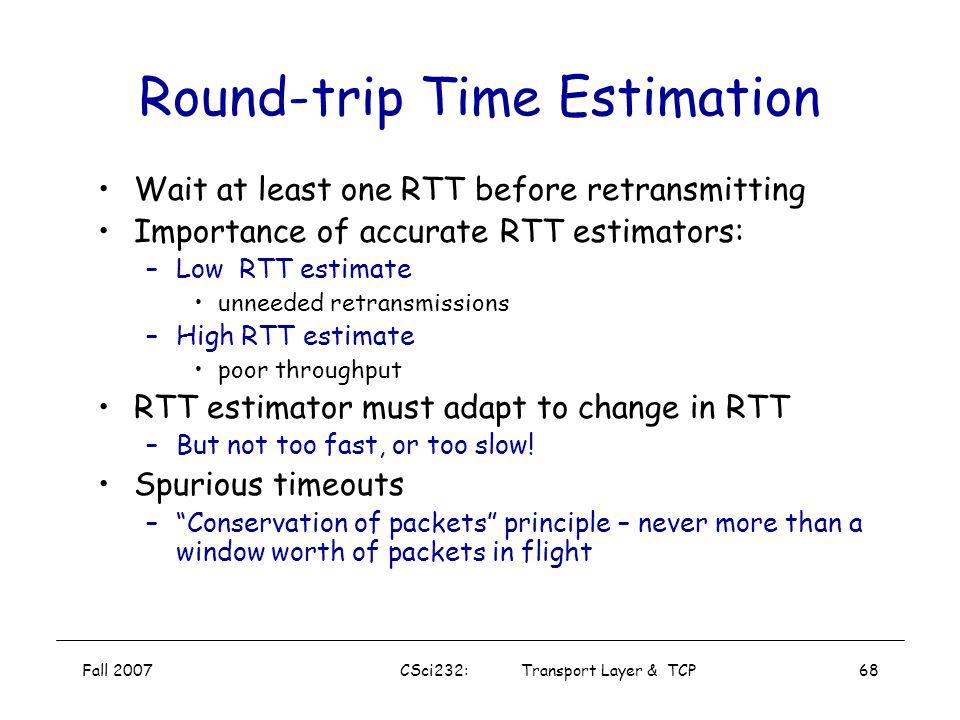 Round-trip Time Estimation