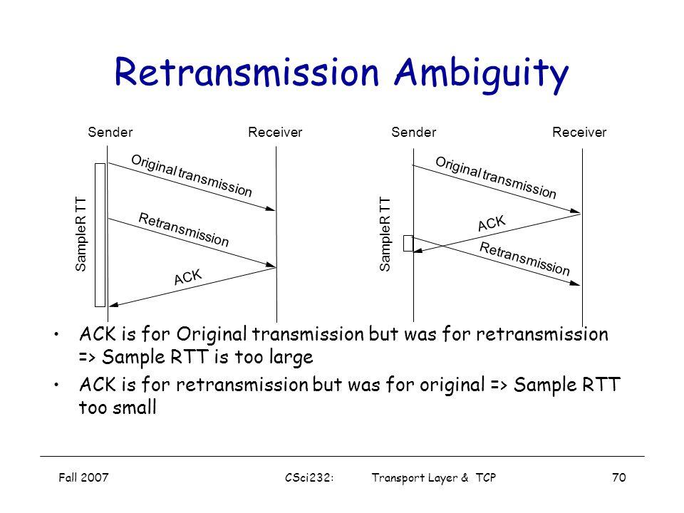 Retransmission Ambiguity