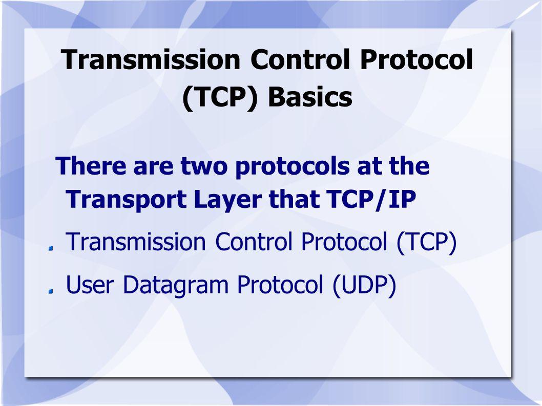 Transmission Control Protocol (TCP) Basics