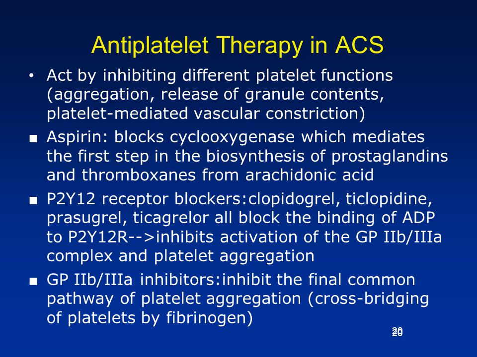 Antiplatelet Therapy in ACS