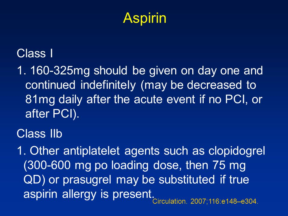 Aspirin Class I.