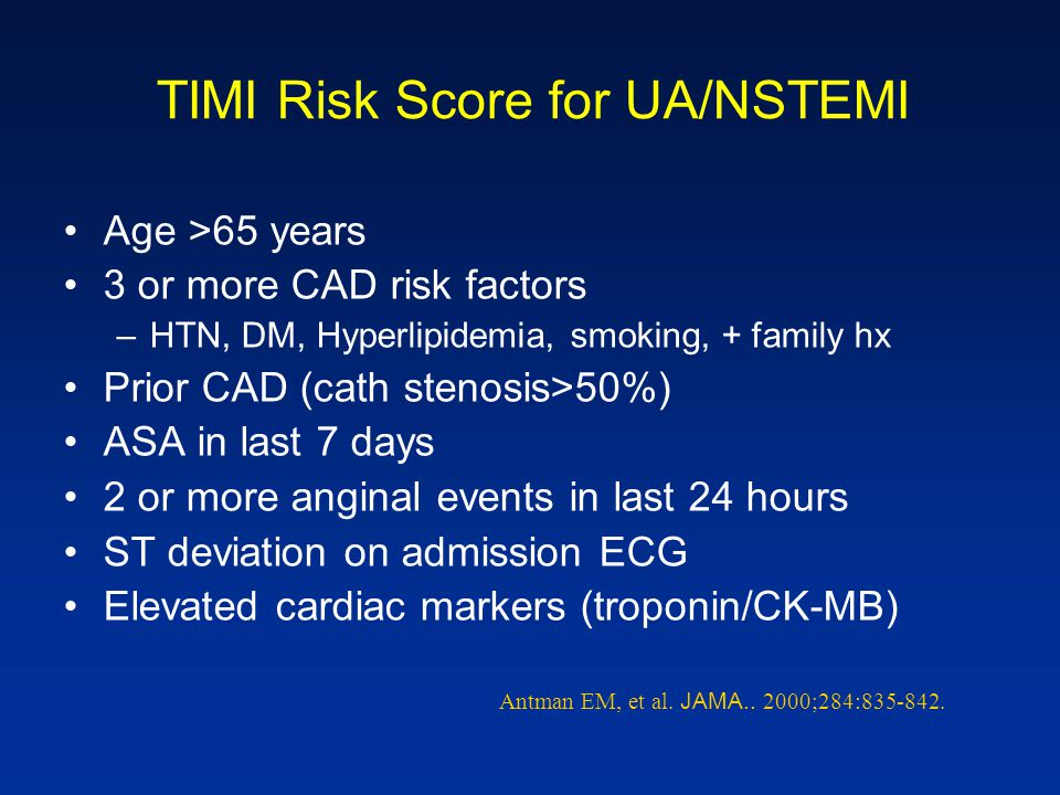 TIMI Risk Score for UA/NSTEMI