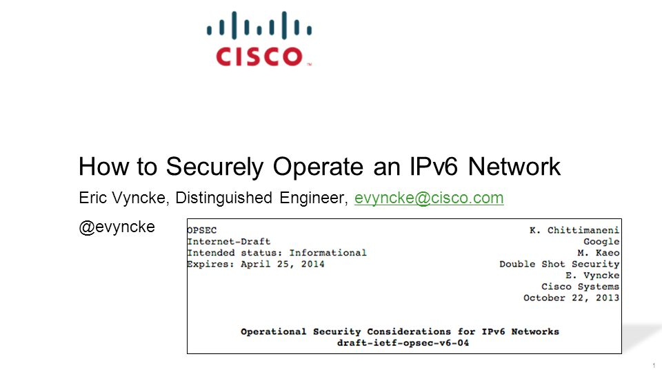 How to Securely Operate an IPv6 Network