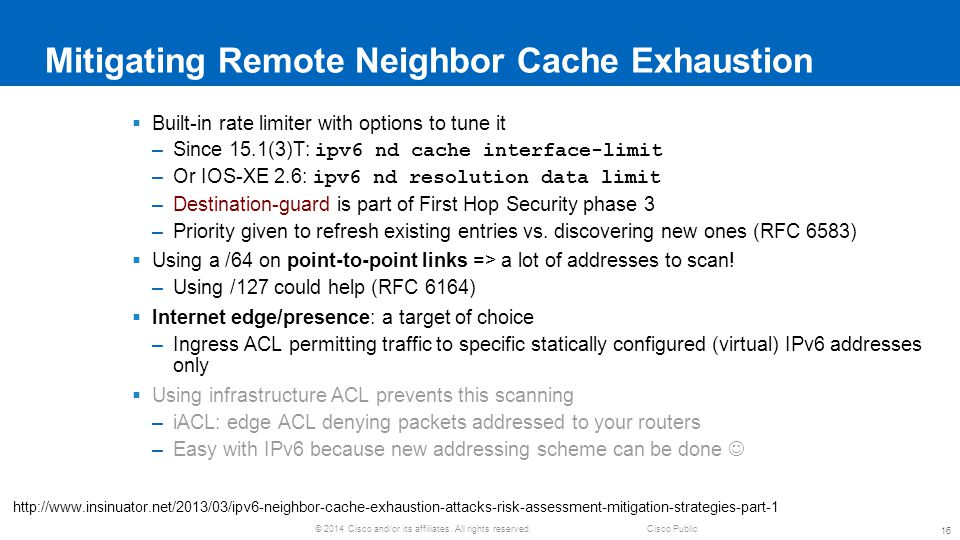 Mitigating Remote Neighbor Cache Exhaustion