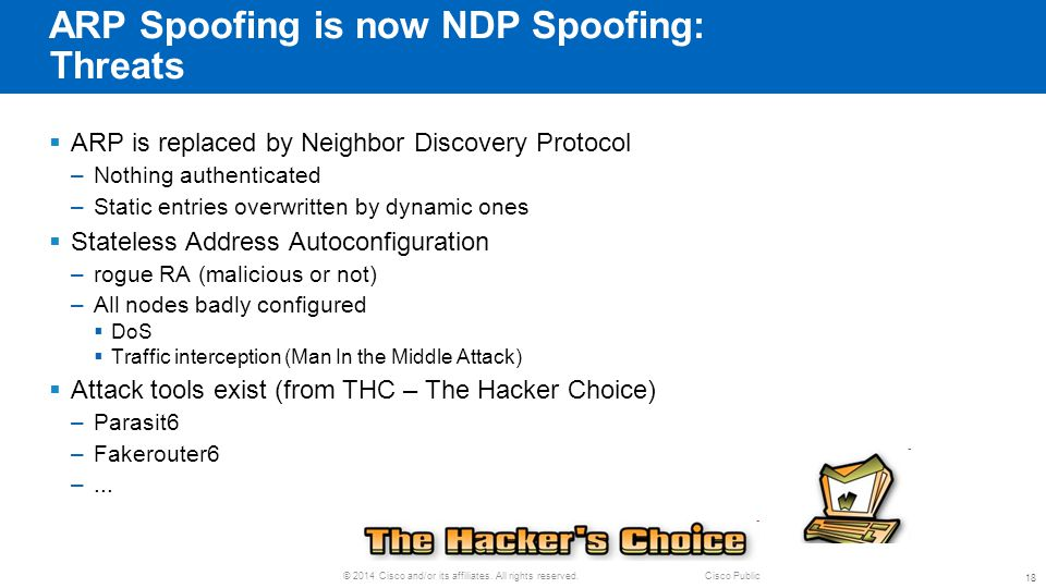 ARP Spoofing is now NDP Spoofing: Threats