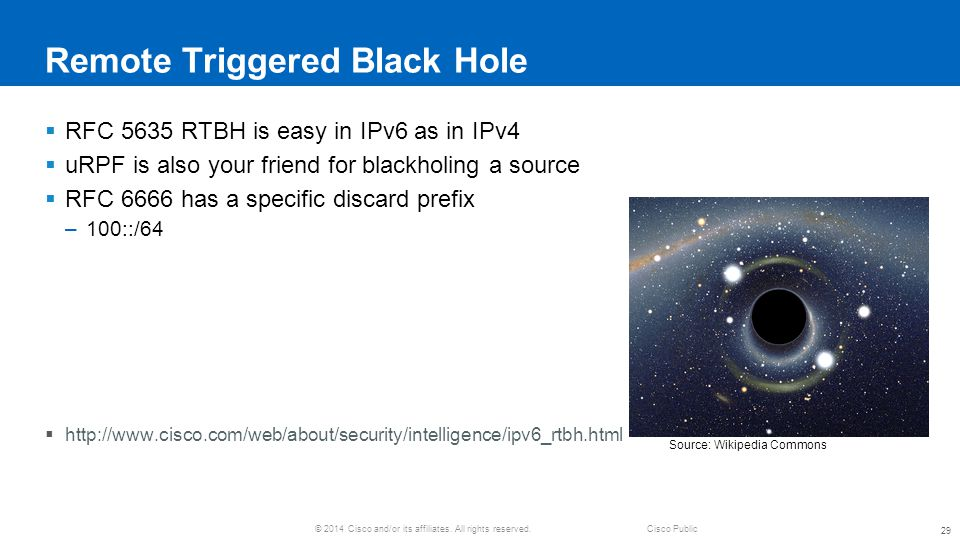 Remote Triggered Black Hole