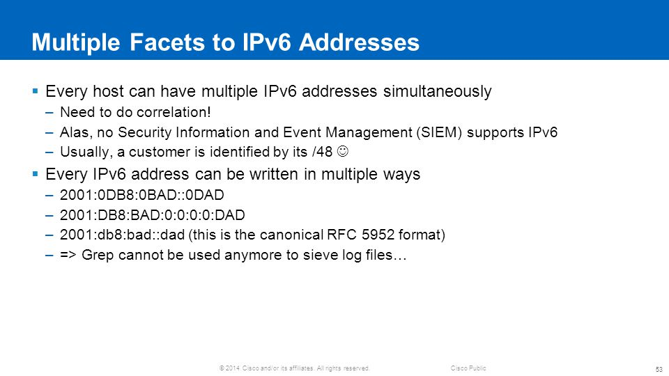 Multiple Facets to IPv6 Addresses