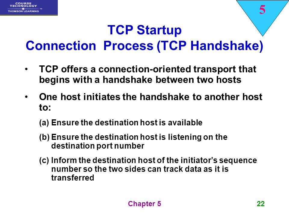TCP Startup Connection Process (TCP Handshake)