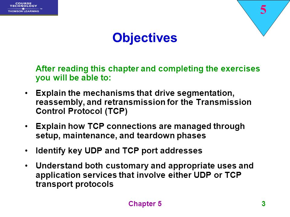 Objectives After reading this chapter and completing the exercises you will be able to: