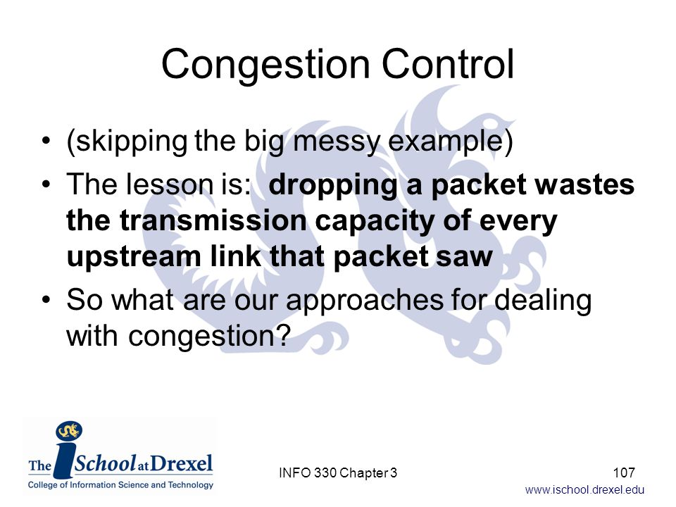 Congestion Control (skipping the big messy example)