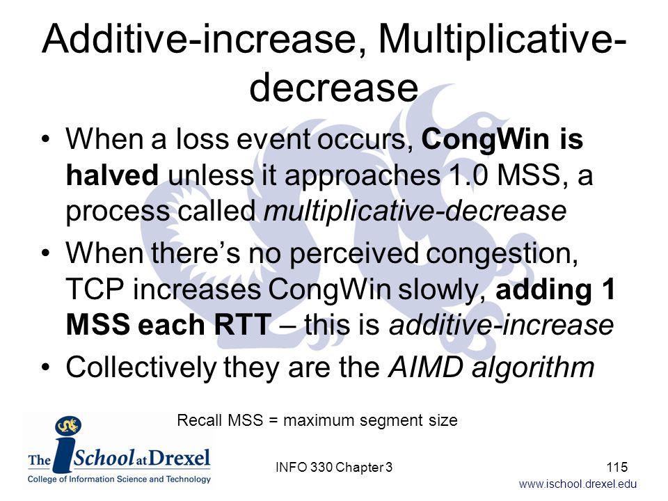 Additive-increase, Multiplicative-decrease
