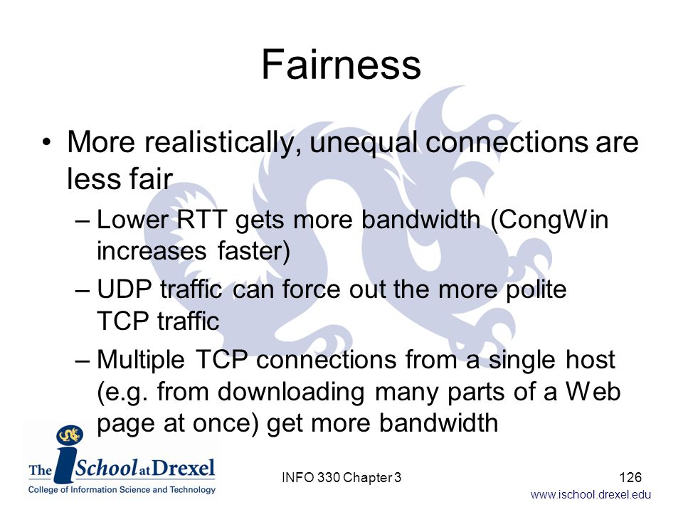 Fairness More realistically, unequal connections are less fair