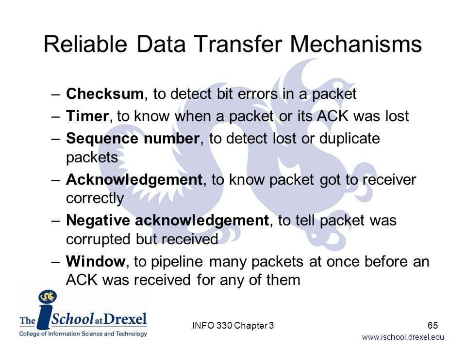 Reliable Data Transfer Mechanisms