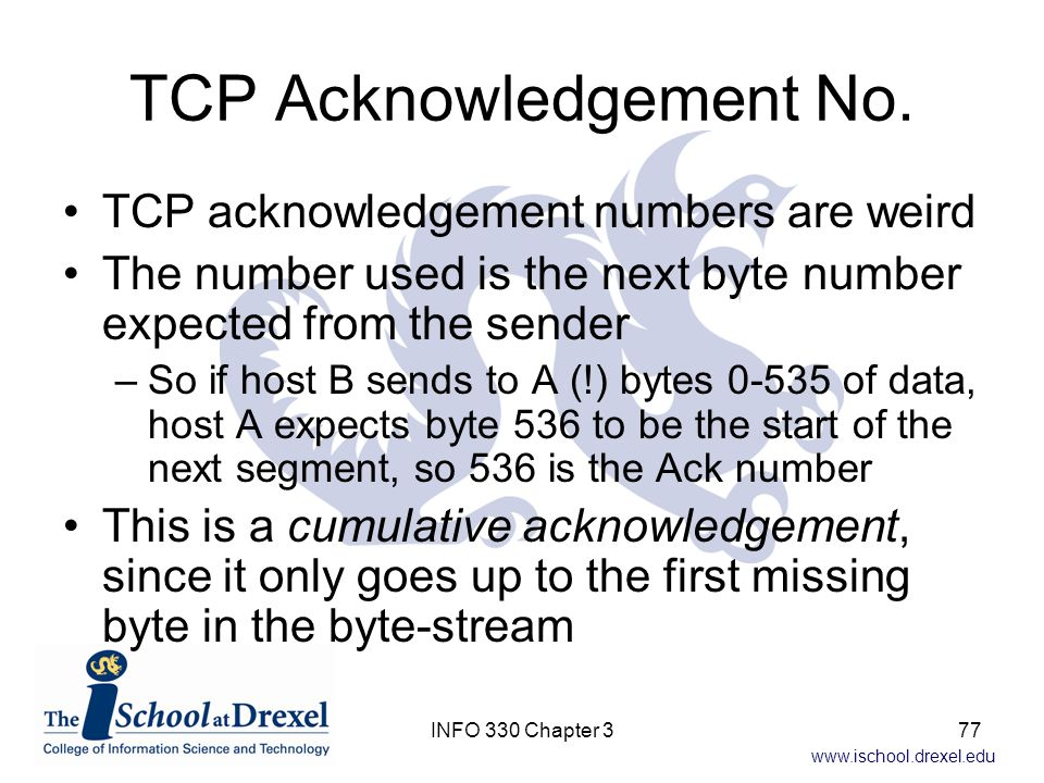 TCP Acknowledgement No.