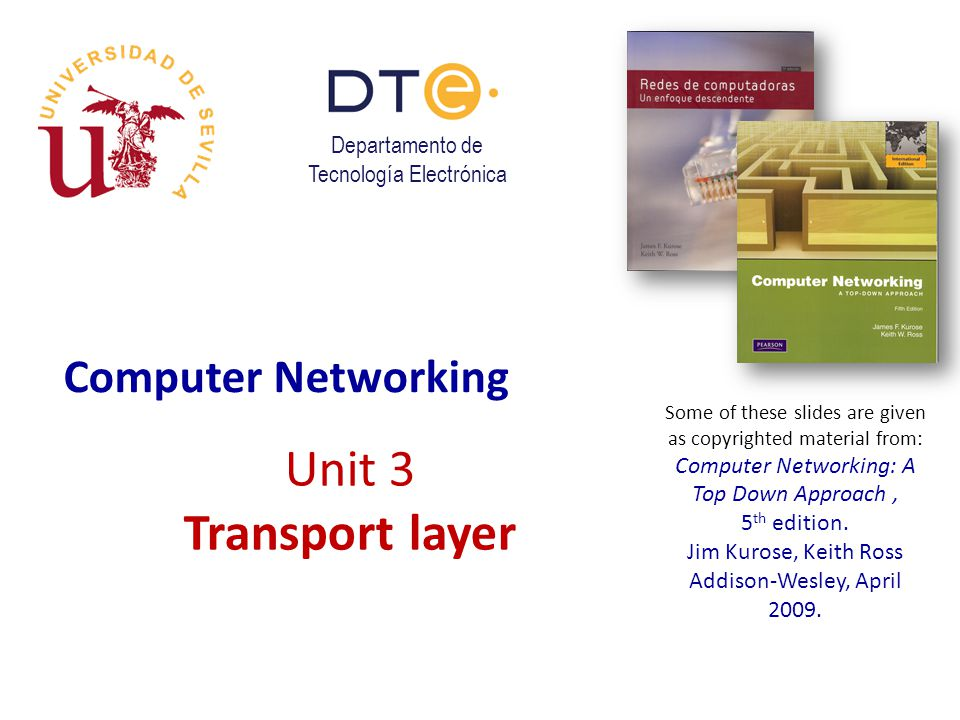 Unit 3 Transport layer Computer Networking