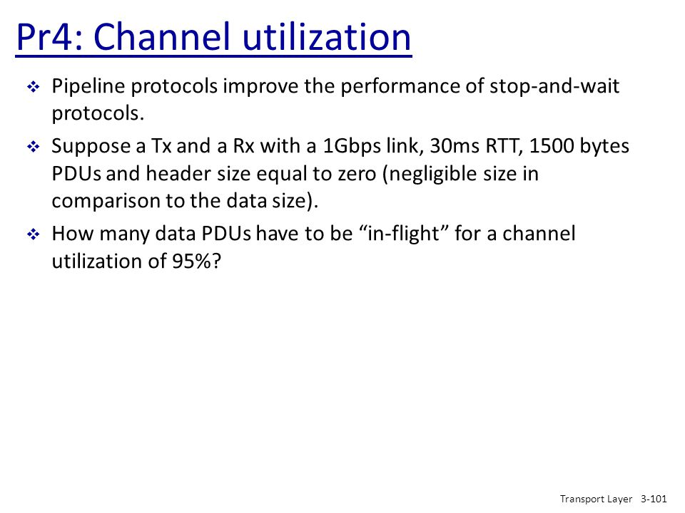 Pr4: Channel utilization