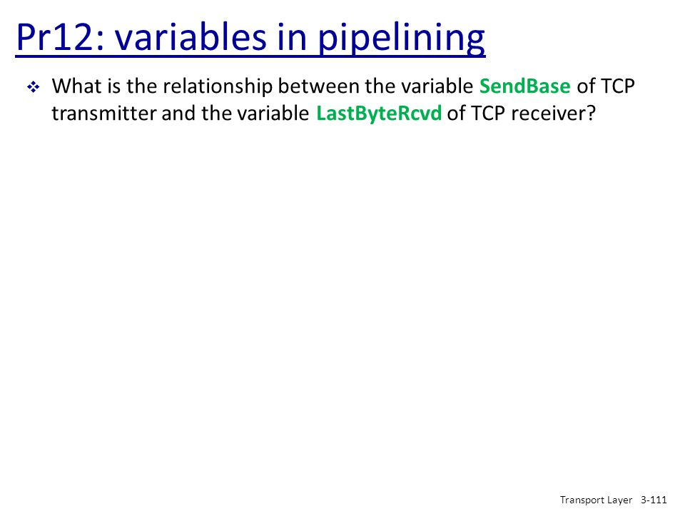 Pr12: variables in pipelining