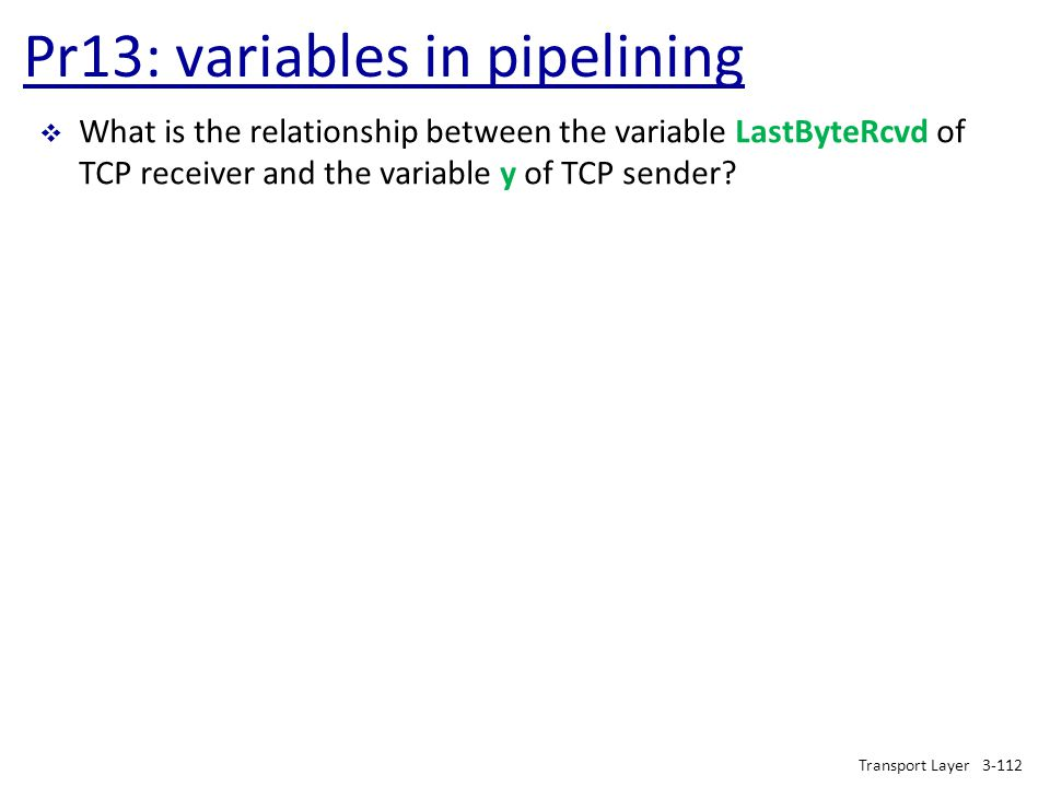 Pr13: variables in pipelining