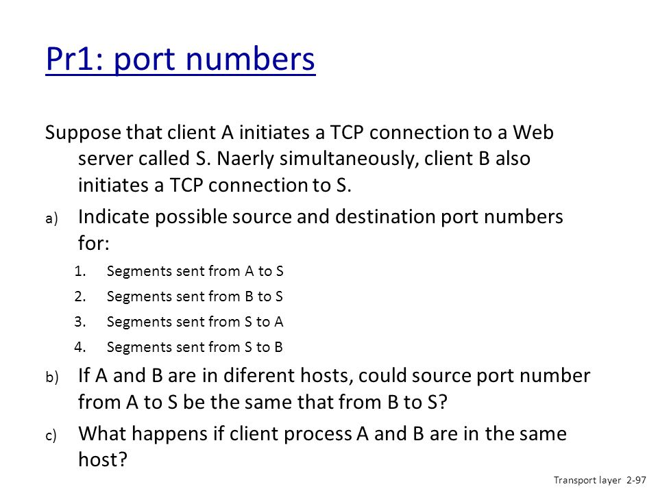 Pr1: port numbers