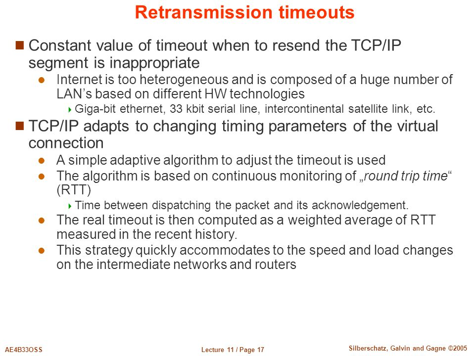 Retransmission timeouts