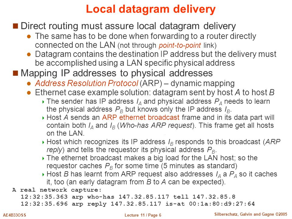 Local datagram delivery
