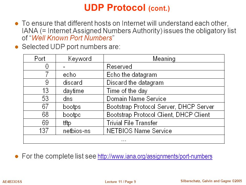 UDP Protocol (cont.)