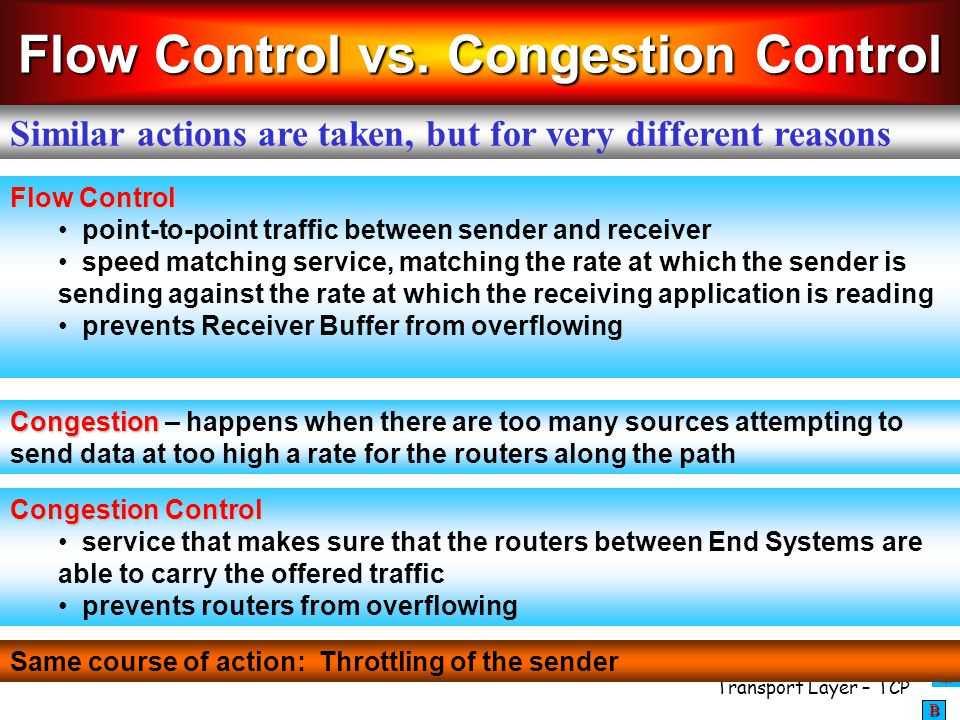 Flow Control vs. Congestion Control