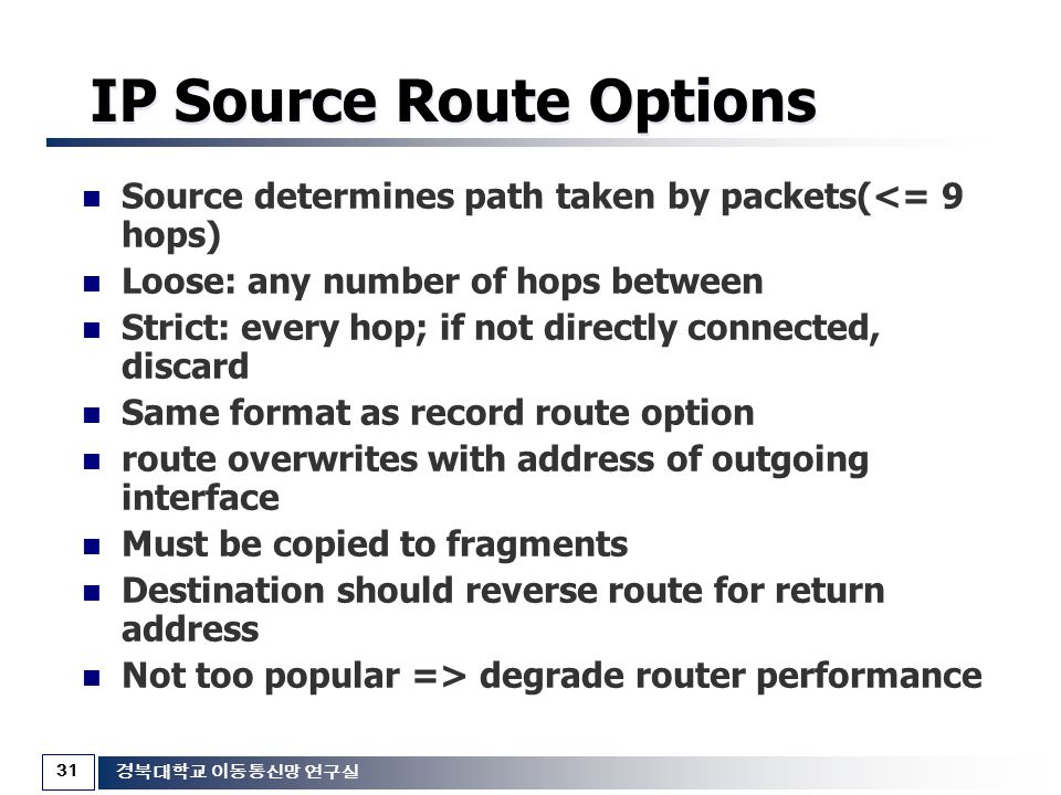 IP Source Route Options