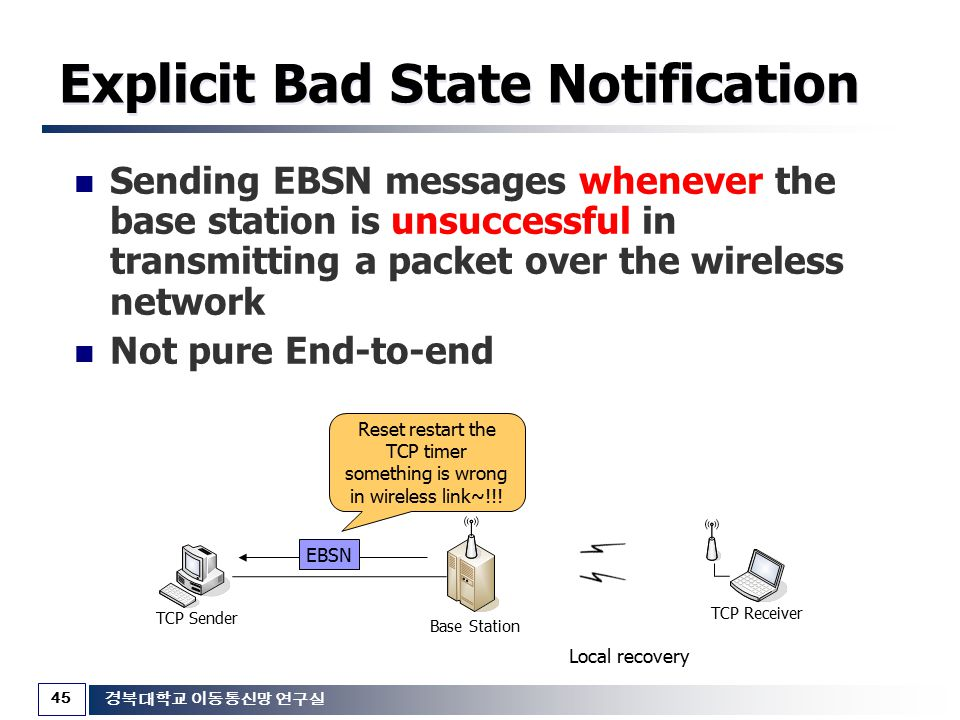 Explicit Bad State Notification