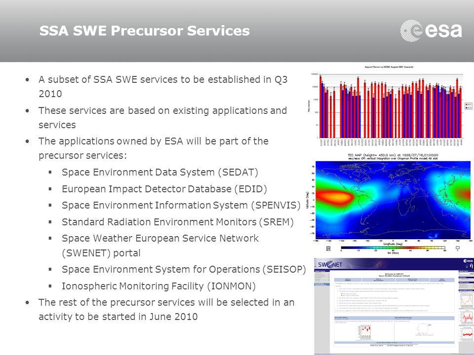 SSA SWE Precursor Services