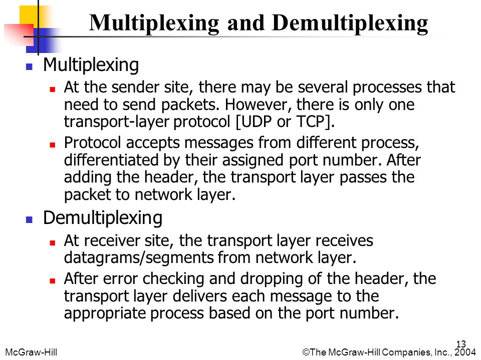 Multiplexing and Demultiplexing