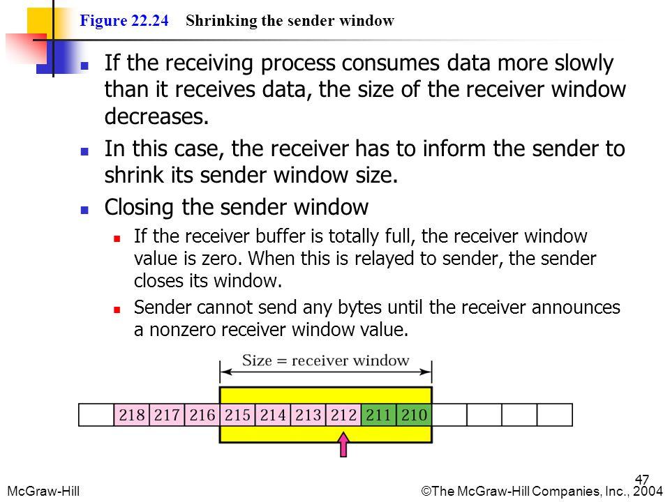 Closing the sender window