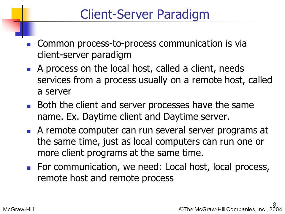 Client-Server Paradigm