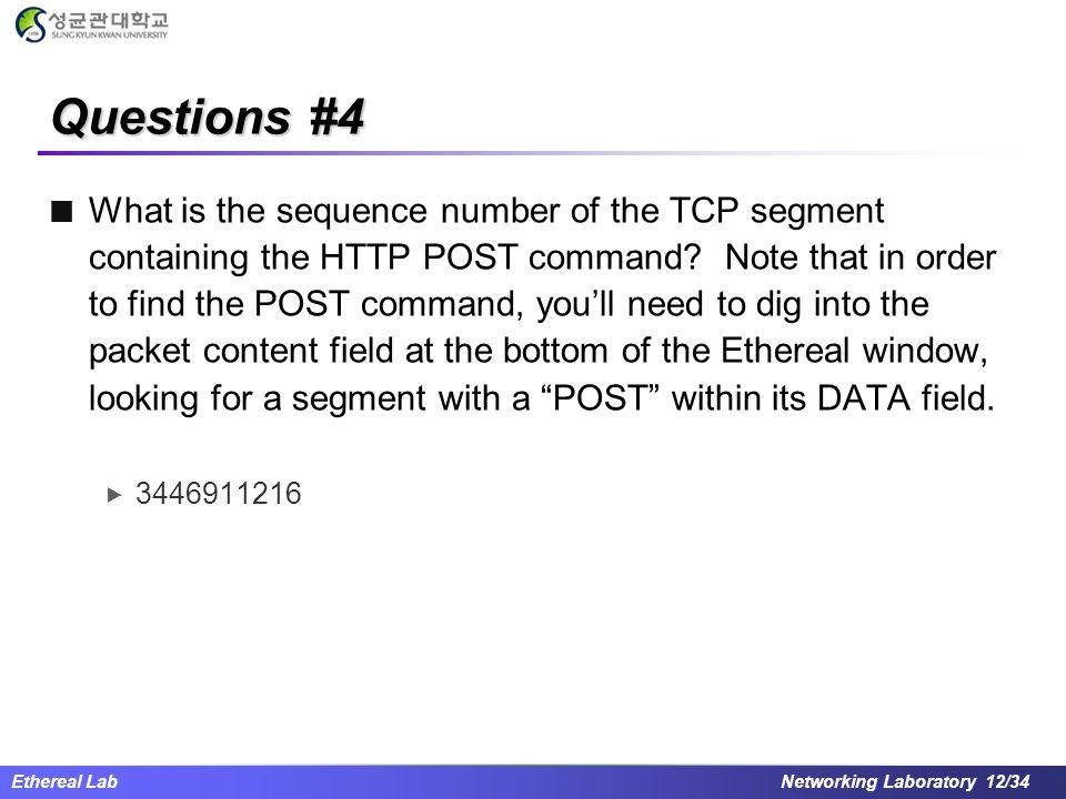 Questions #4
