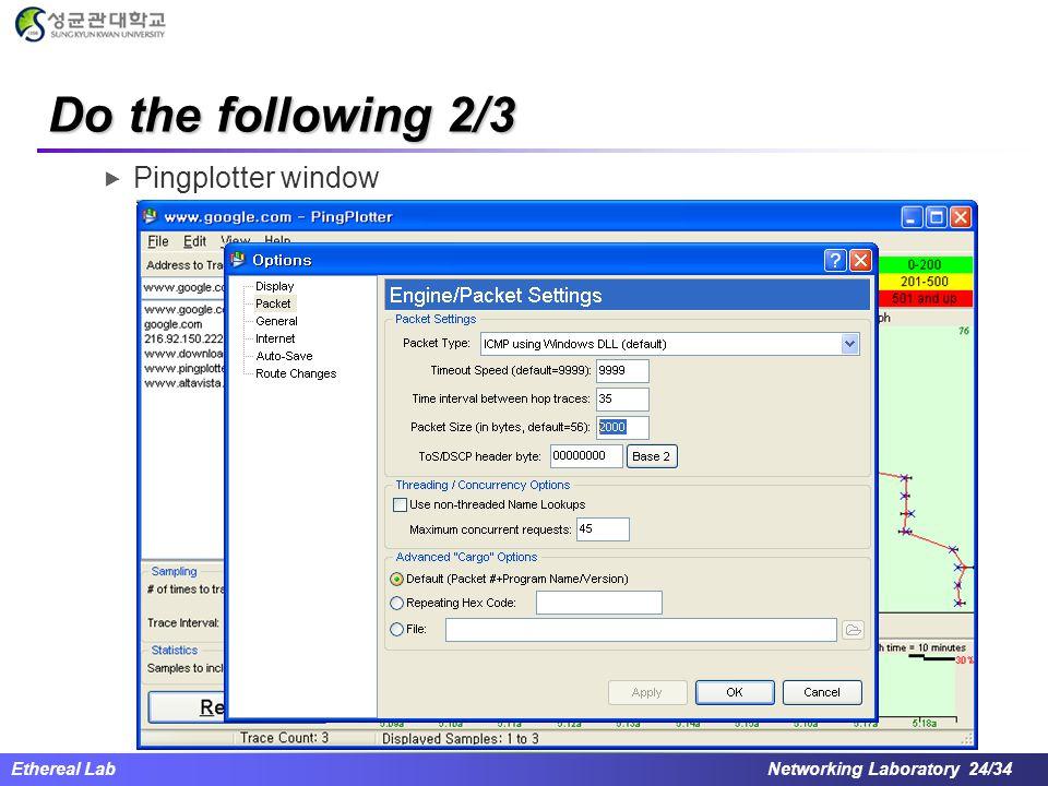 Do the following 2/3 Pingplotter window