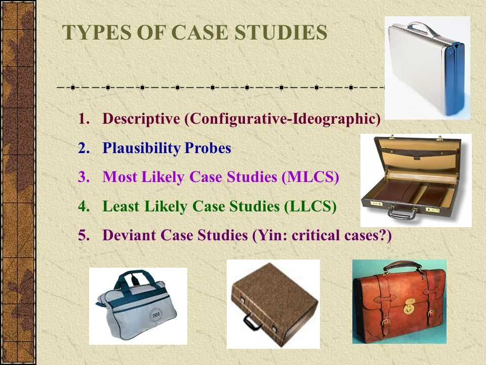 TYPES OF CASE STUDIES Descriptive (Configurative-Ideographic)