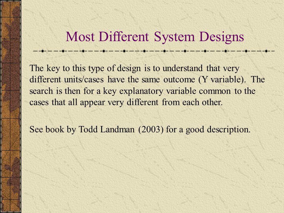 Most Different System Designs