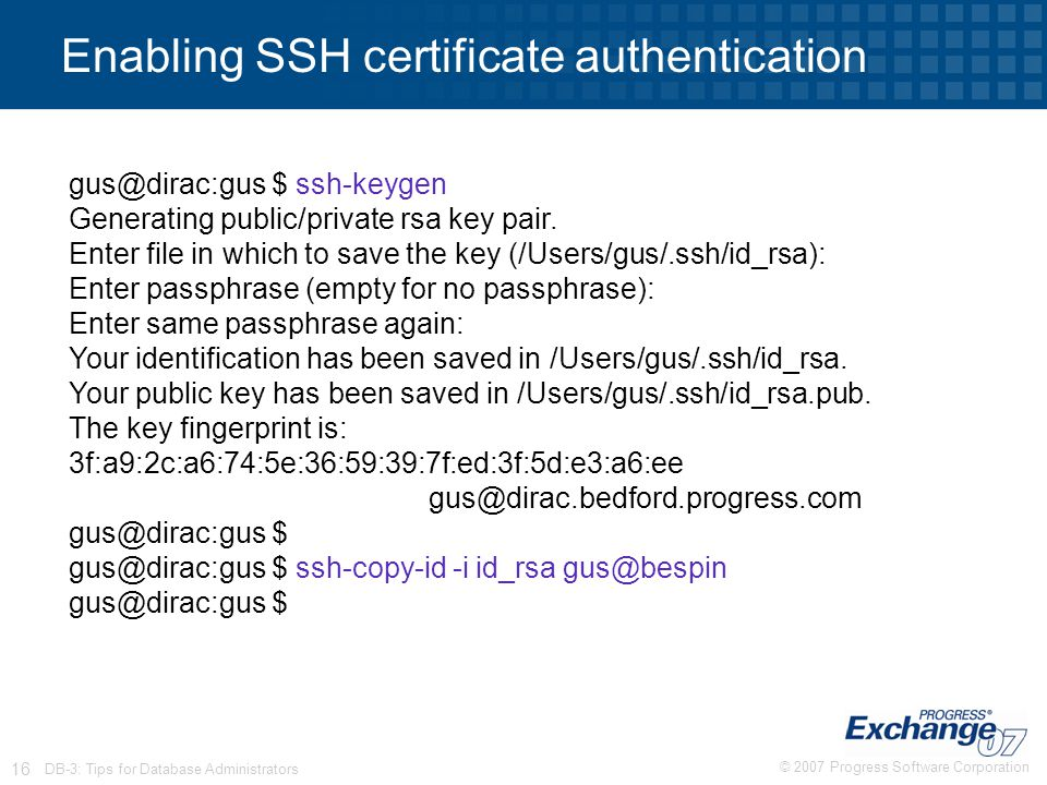 Enabling SSH certificate authentication