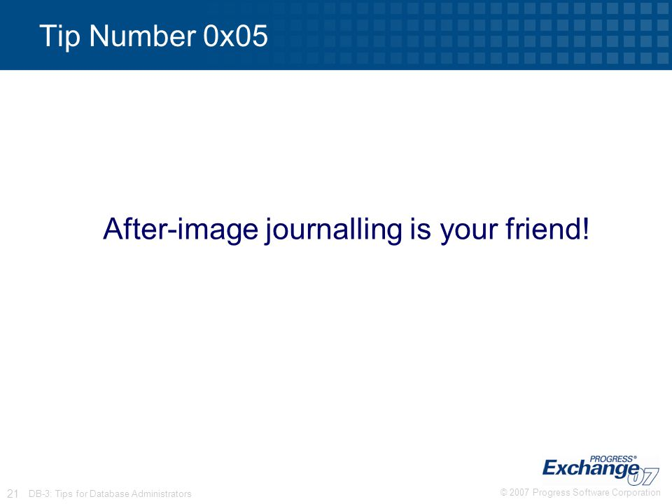 After-image journalling is your friend!