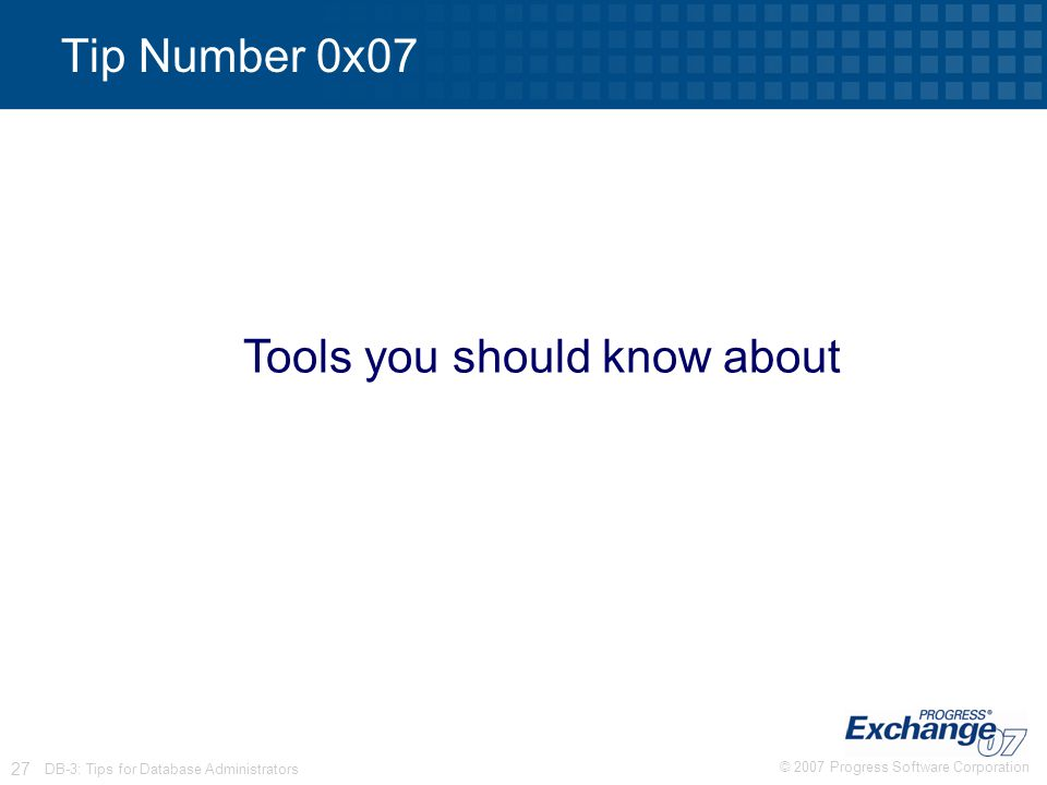 Tools you should know about